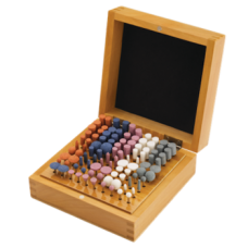 Abrasive Polishing Points in a Wooden Box