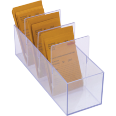 Acrylic 4 Compartment Job Envelope Holder