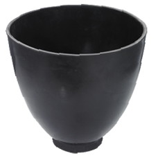 "9"" Investment Mixing Bowl Rubber"