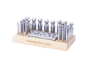 Dapping Punch Set of 24 with 24 Hole Dapping Block Set