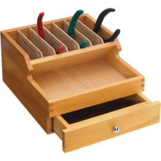 Wooden Rack For Pliers With Drawer